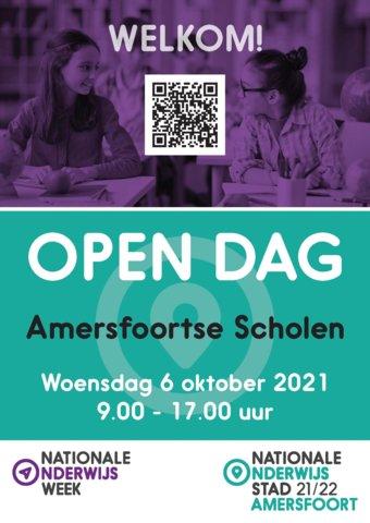 Poster Open dag Amersfoortse scholen